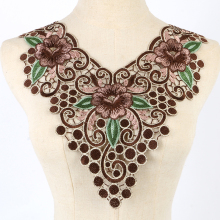 Fashion Lace collar ,cotton Lace Craft Sewing Neckline Collar Applique Trims Gift NL010(China)