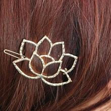 2017 New Jewelry Heart Like Lotus Flower Elegant Lotus Art Metal Retro Styling Hairpin Wholesale Manufacturers(China)