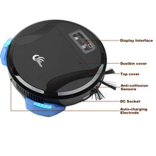 2017 Intelligent Wireless Robot Vacuum Cleaner Wet & Dry House Clean Floor Robot Cleaner Auto Charge Wet Sweeping Machine(China)