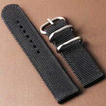 High Quality 5 Colors Cost-effective Nylon Canvas 20mm/22mm Width Watch Strap Band For Casual Sport Watches With 2 Spring Bars