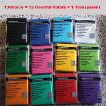 13 colorful Choices 100pcs/set 66*91mm Magical Trading Cards Sleeve Cards Sleeves protector for board game trading card sleeves(China)