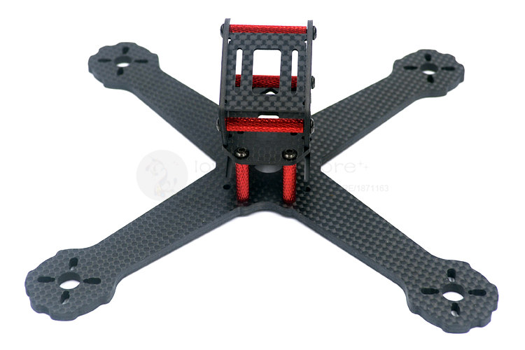 DIY FPV mini racing drone QAV-X5 RS 5 190mm quadcopter 3K pure carbon fiber frame 4mm main plate arms unassembled<br>