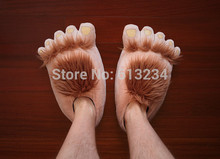 Free Shipping 1Pair Furry Vengeance ! Barbaric Hobbit Slippers Fluffy Slippers Warm Indoor Slippers
