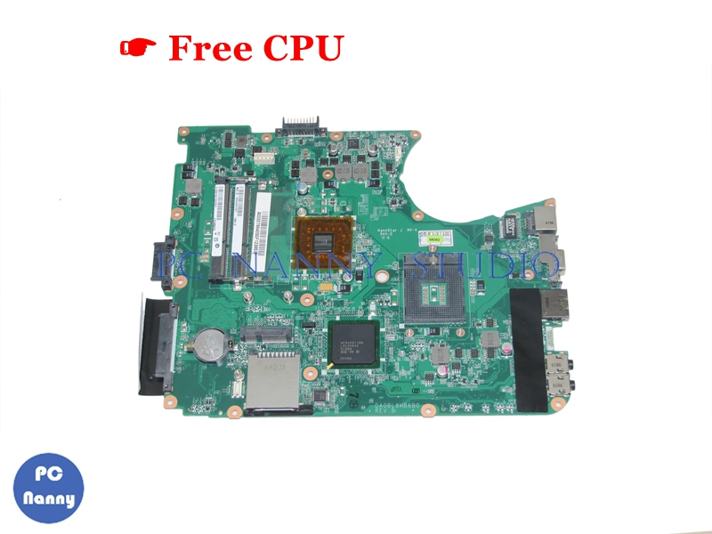 NOKOTION A000078940 DA0BL8MB6B0 for toshiba satellite L655 laptop motherboard GL40 HD graphics DDR3 & free CPU no video card