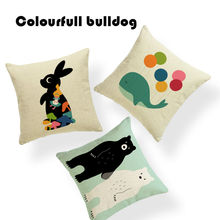 Wholesaler Creative Cartoon Gift Mexican Skulls Cushion Covers Modern Art Lounge 18 Inch Linen Decorative Cover Pillows For Sofa