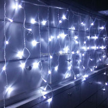 4*0.6M 96 LED Fairy String Curtains Light Window Icicle Lights Ideal for Indoor Outdoor Home Garden Christmas Party Wedding