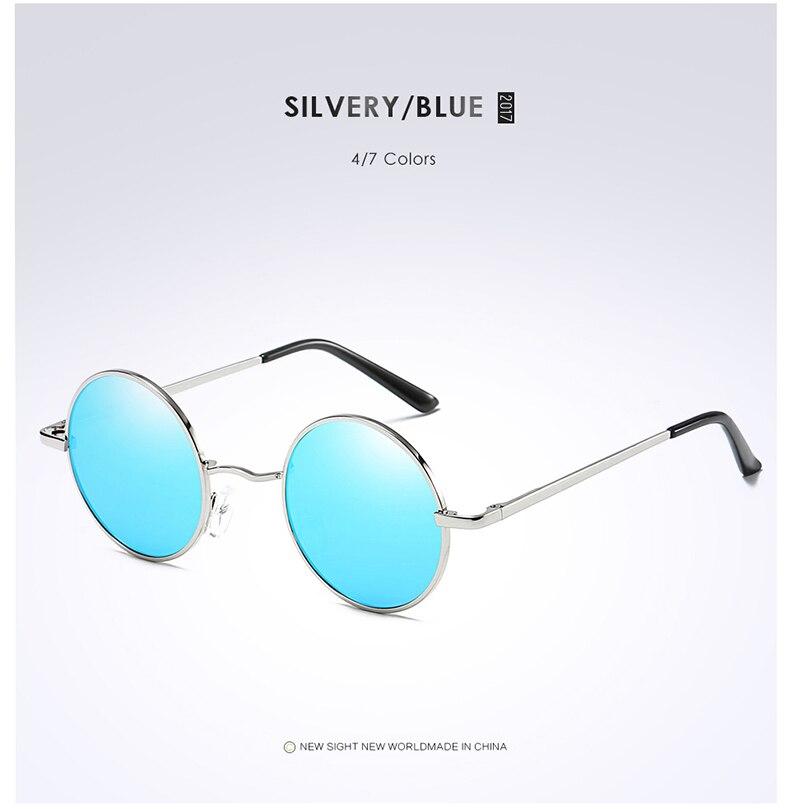 AFOUE Round Sunglasses Women Brand Designer Female Mirror Lens Sun Glasses Small Retro Driving Metal Eyewear for Fashion Ladies