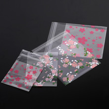 100Pcs Flower Patterns Candy Bag Clear Zip Lock Bags Wedding Birthday Cookie Biscuit Sweets Bag Sealer Food Storage Bags Pouch(China)