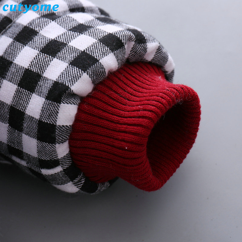Cutyome Newborn Baby Girls Outwear Coats Hooded Plaid With Bow Cotton Winter Jackets Children Infant Padded Thick Jacket Clothes (9)