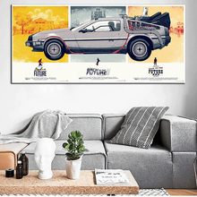 Back To The Future Car Vintage Retro  Large Pop Film Movie Art Prints Poster Wall Picture Canvas Painting No Framed Home Decor
