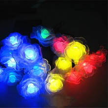 4.8M 20 LEDs Solar String Landscape Lights Romantic Rose Solar LED Patio String Waterproof Christmas Lights Outdoor Garden Yard(China)