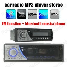 Factory price Car Radio Stereo In-Dash MP3 Player FM USB SD without AUX Input 1 din size remote control bluetooth(China)