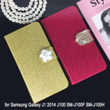 Buy Flip Phone Case Cover Samsung Galaxy J1 2014 J100 SM-J100F SM-J100H Original Rhinestone Cases Bling Fundas for $3.00 in AliExpress store