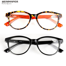 WEARKAPER 2 Pairs Plastic Frame / TR90 Spring Hinges High quality resin lenses Reading glasses(China)