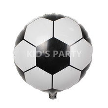 3pcs/lot 18inch black white baloons football for boy toys balloon birthday party gift decoration helium soccer balls baloes