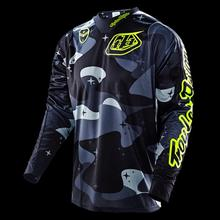 HOT Troy Lee Designs Moto shirt XC Motocross Jerseys mountain bike Bicycle Sports mx Jersey atv Wear T-shirts clothings