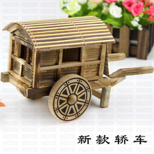 ft026 Manufacturers selling exquisite antique wooden handicrafts wooden antique ornaments hand carriage car(China)