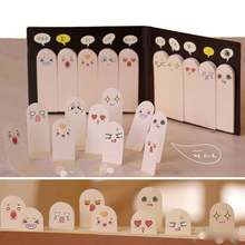 1Pcs 200 Pages Kawaii Unique Scrapbooking Ten Fingers Sticker Bookmark Tab Flags Memo Book Marker Sticky Notes Office Stationery(China)