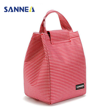 SANNE 9L Portable Thermal Lunch Bags for Women Men Multifunction Oxford Striped Large Storage Tote Food Picnic insulation Bags