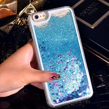 Bling Shining Glitter Stars Dynamic Liquid Quicksand Hard Case Cover For iPhone 4 4s 5 5s 6 6s 7 plus Transparent Phone Case(China)