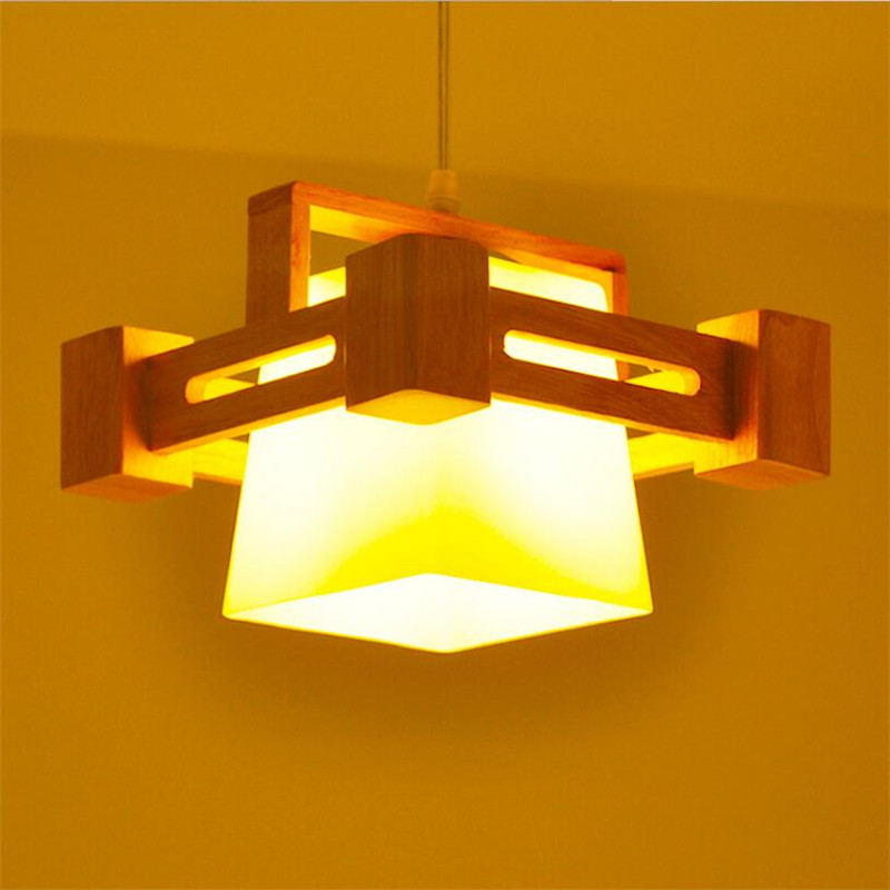 2017 Nordic Style Modern Pendant Lamp Wooden Glass Lamp Shade E27 Bulb AC 110V 220V Pendant Lighting For Home Decoration<br><br>Aliexpress