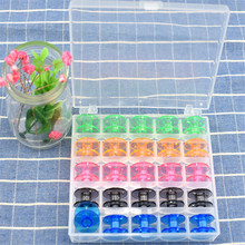 Bulk 25Pcs/Set Empty Bobbins Sewing Machine Spools Colorful Plastic Case Storage Box For Women DIY Scarf Tools Sewing Machine(China)