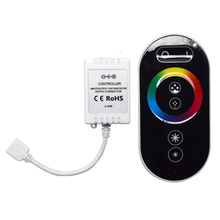 Wireless 433MHz  DC12V-24 3*2A LED RGB strip controller Rf touch remote control RGB dimmer for led strip light