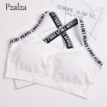 Buy Pzalza 2018 Tank Top Workout Sexy Cross Letters Strap Women Tank Top Fitness Casual Backless Top Femme Padded Bra Vest for $6.07 in AliExpress store