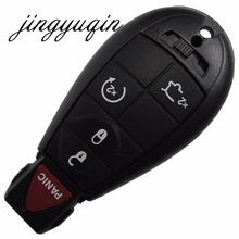 jingyuqin 5 Buttons Remote for Commander Grand Cherokee Key Shell Fob Keyless For JEEP For CHRYSLER/DODGE Key Case Cover(China)