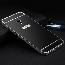 Aimak Brand Aluminum Metal Frame & PC Back Cover Case For Meizu M3 Note 3 Note3 / M3 Mini M3S Luxury Mobile Phone Cover