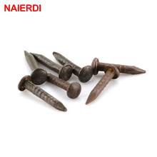 200pcs NAIERDI 1.2x8mm /10mm Bronze Upholstery Nail Jewelry Gift Case Box Nuts Fastener Sofa Decorative Tack Pushpin Hardware