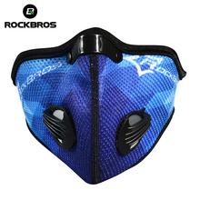 Rockbros Cycling Bicycle Anti-Pollution Masks Activated Carbon Air Filter Mask Outdoor Sports Mouth-Muffle Dust Half Face Covers(China)