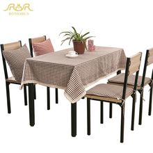 Simple Plaid Square Tablecloths for Coffee Dining Table High-grade Dustproof Pad Plus Red/Brown Tablecloth Wholesale RMR271451