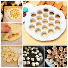 1pc 21x 2cm White Dumpling Ravioli Make Mold Convenience Life ABS Plastic Pastry Tools Gadgets Easy Fast Good Quality(China)