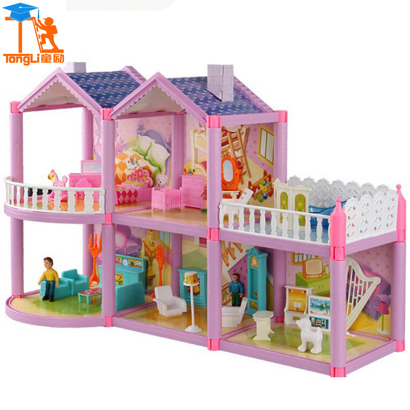 2017 Doll House Girls Birthday Sets Building Block Bricks Girl Friends Building Blocks Bricks Toys Girl Friends Block Toys TL-5<br>