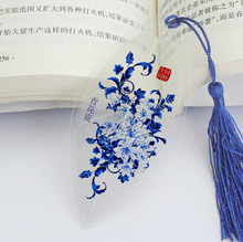 Lily China Business Gift Chinese traditional ink painting Chinese Style Vintage Leaf Student Bookmark