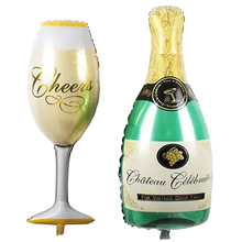 Large Size Foil Balloons Champagne Cup Beer Bottle Helium Aluminum Balloons For Birthday Wedding Party Home Decoration favor bar(China)