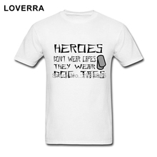 100%Cotton Jersey Heroes Wear Dog Tags TShirt Male O-Neck Summer Hip Hop Brand Clothing Short Sleeve Fitness TShirt Homme(China)