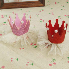 Modern Ornament Accessories Kids Hairpin Crown Pearl Princess Hair Clip for Kids Party Accessories Headwear
