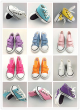 Assorted Colors 7.5cm Canvas Shoes For BJD Doll Toy,Mini Doll Shoes for 16 Inch Sharon doll Boots