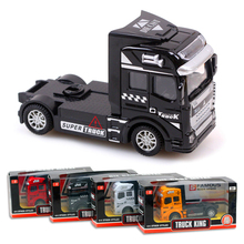 Tibbers Heavy Truck Trailer Headstock Vehicles Engineering Car Monster Truck 1:50 Diecast Metal Alloy Truck Model Toys For Boys