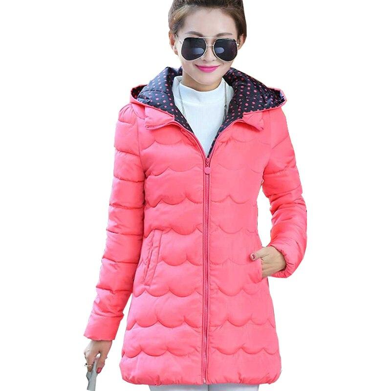 New 2016 Fashion Women Winter Coat Long Sleeve Hooded Slim Long Winter Parka Jacket Plus size Cotton-Padded CoatÎäåæäà è àêñåññóàðû<br><br>