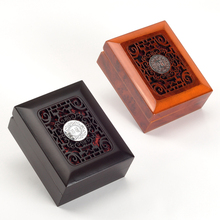 Wholesale 5pcs New Design high quality 10.5*8.5*4.5cm wooden carving pendant box jewelry box gift box BX008