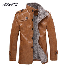 Buy AOWOFS Mens Long Leather Trench Coat Faux Fur Liner Winter Leather Jackets Thick Warm Male Overcoat Plus Size 5XL 6XL 7XL 8XL for $35.60 in AliExpress store