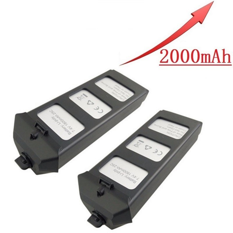 7.4V 2000mAh For X8SC X8SCWRC Quadcopter Battery Rechargeable Drone Battery #