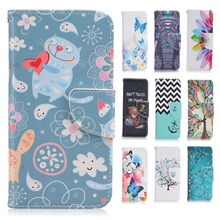 Cartoon Case for Microsoft Nokia Lumia 650 Case Leather Cover Flip Wallet Silicon Cover Smartphone Mobile Phone Accessory Coque(China)