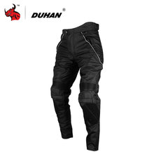 DUHAN Men's Street Racing Windproof Motorcycle Trousers Motocross Riding Sports Pants with Removable Protector Guards(China)
