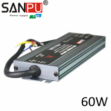 Waterproof AC100-240V Hot Sale 24V 2.5A 60W Switch Power Supply Slim Thin Waterproof Al Driver for LED Strip Light Display Modul(China)