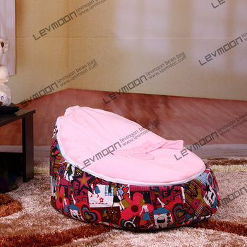 FREE SHIPPING baby seat with 2pcs bright pink up cover baby bean bag chair baby bea bags kid bean bag chair bean bag chair<br><br>Aliexpress