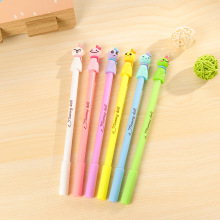 12Pcs Cute Mini 0.38mm Plastic Gel Pens Kawaii Cartoon Sunny Doll Fountain Black Signing Pen Office School Pencil Stationery